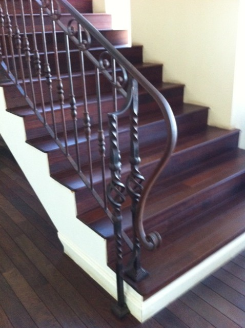 Cr ation d 39 une rampe d 39 escalier en fer forg for Rambarde fer forge